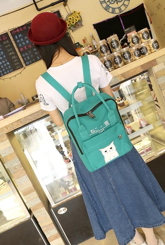 กระเป๋าเป้ Japan chic (กระเป๋าเป้สไตล์ญี่ปุ่น) สีเขียว