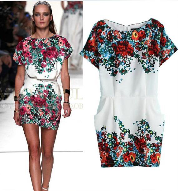 [พรีออเดอร์] ชุดเดรสผู้หญิงแฟชั่นยุโรปใหม่ กระเป๋าเท่ห์ แขนยาว พิมพ์ลายดอกไม้ แบบเก๋ เท่ห์ - [Preorder] New European Fashion Large Pocket Round Neck Printed Floral Long-Sleeved Dress
