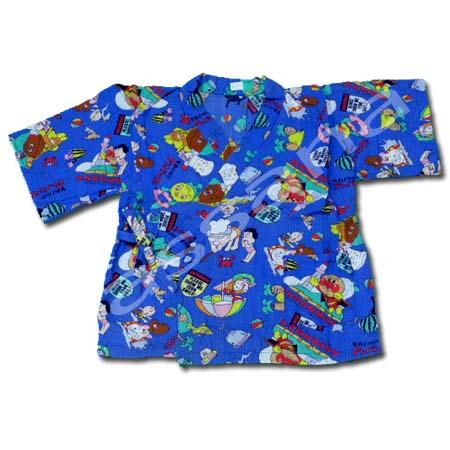 เสื้อจิมเบอิ สีฟ้า ลาย Anpanman S100