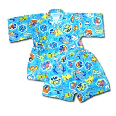 ชุดจิมเบอิ สีฟ้า ลาย Pocket Monsters Diamond & Pearl S120