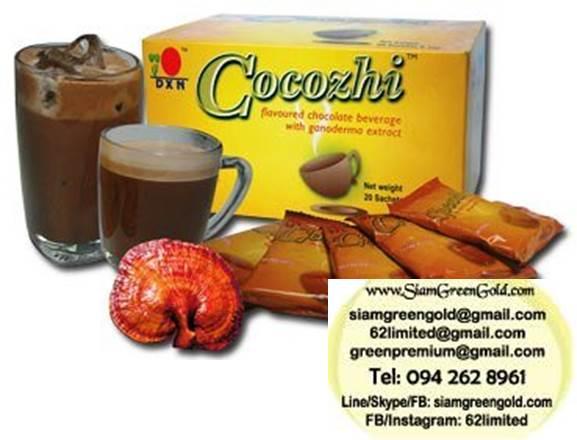 เครื่องดื่มโกโก้ผสมเห็ดหลินจือ Cocozhi ช่วยเพิ่มออกซิเจนในการใหลเวียนโลหิตของร่างกาย บำรุงสมอง