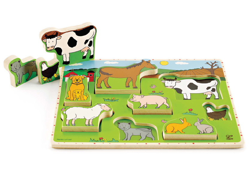 Farm Animals Stand Up Puzzle
