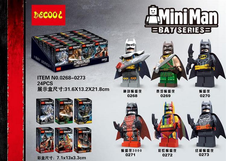 เลโก้จีน Decool.0268-0273 ชุด Batman