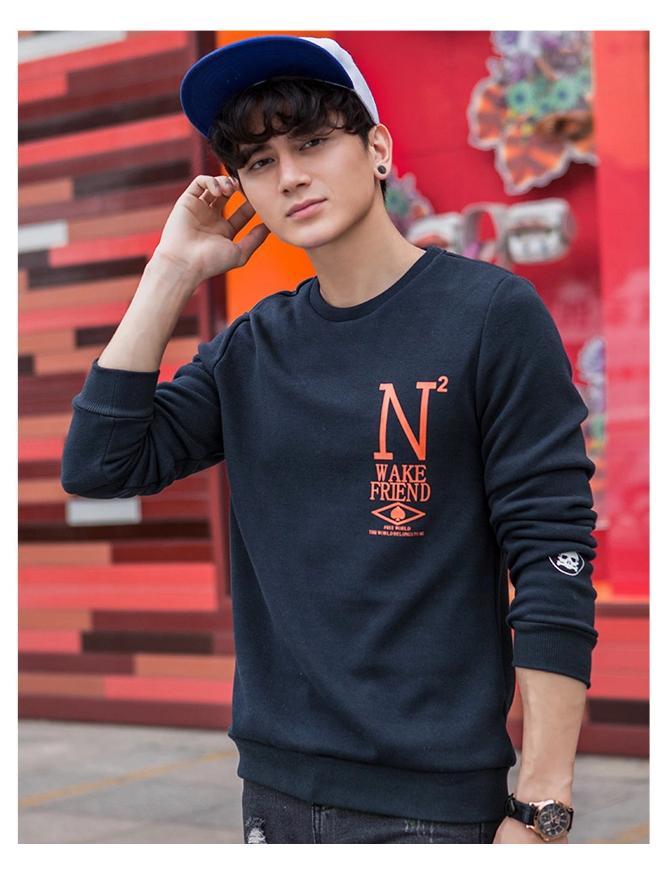 พรีออเดอร์ เสื้อกันหนาวไหมพรมแฟชั่นอเมริกา และยุโรปสไตล์ สำหรับผู้ชาย แขนยาว เก๋ เท่ห์ - Preorder Men American and European Hitz Style Slim Long-sleeved Sweater