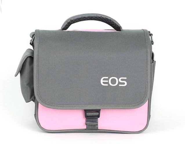 กระเป๋ากล้อง DSLR EOS waterproof camera bag สีชมพู