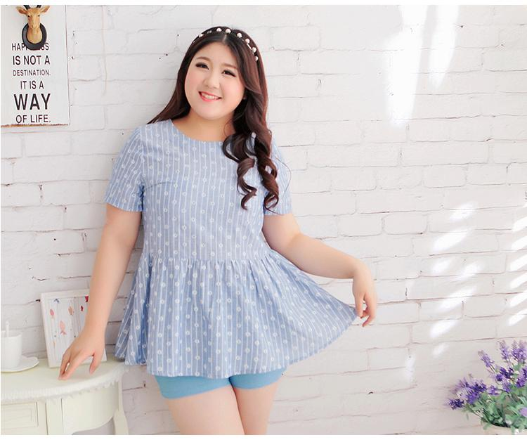พร้อมส่ง เสื้อแฟชั่นเกาหลี คอกลม ไซส์ใหญ่ 3XL สำหรับสาวอ้วนวัยทีน สุดชีค - In Stock Women Korean Hitz New Large Size Shirt