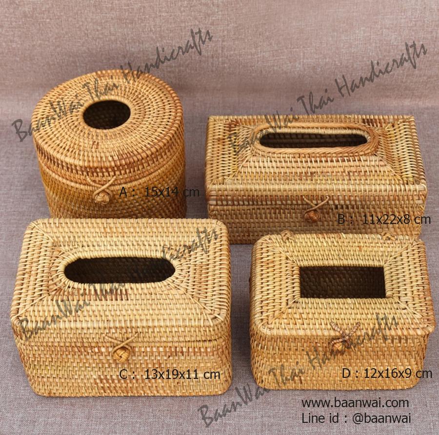 กล่องทิชชูหวาย