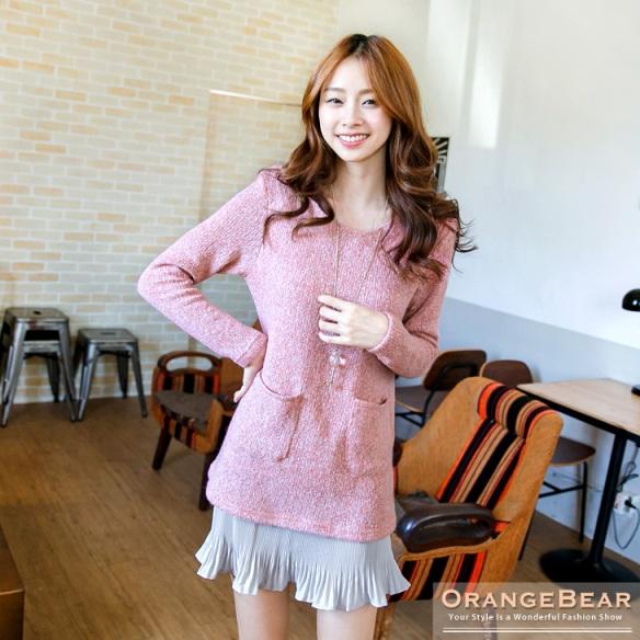 พรีออเดอร์ เสื้อเดรสแฟชั่นไซส์ใหญ่ Orange Bear แขนยาว คอกลม เก๋ น่ารัก - Preorder Women ฺHitz Large Size Korean version Brand Orange Bear Dress Round Neck Long-sleeved Pleated Skirt