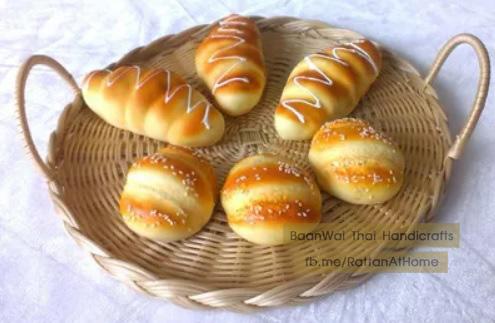 ตะกร้าหวายใส่ขนมปัง ตะกร้าสาน ถาดหวายเทียม ตะกร้าหวายเทียม