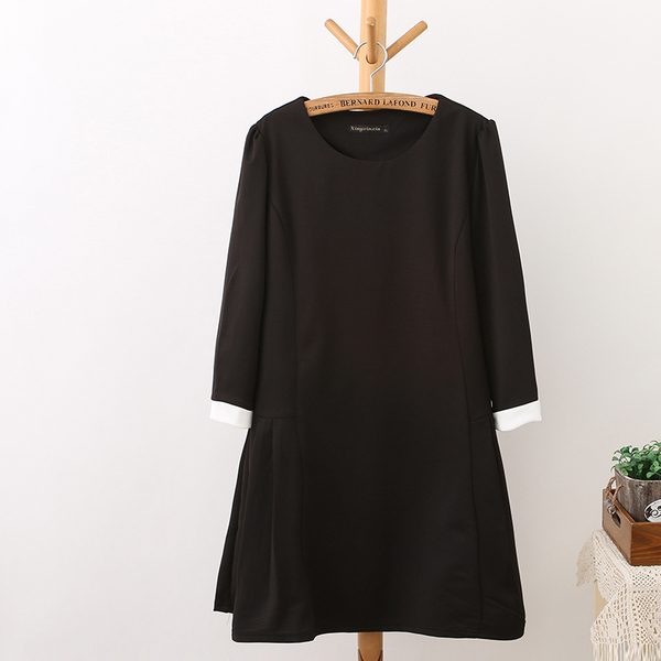 [พรีออเดอร์] เสื้้อเดรสแฟชั่นเกาหลีใหม่ สำหรับผู้หญิงไซส์ใหญ่ - [Preorder] New Korean Fashion Dress for Large Size Woman