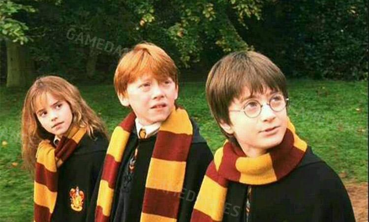 ผ้าพันคอไหมพรม หนังแฮรี่ พอตเตอร์ แบบบาง
