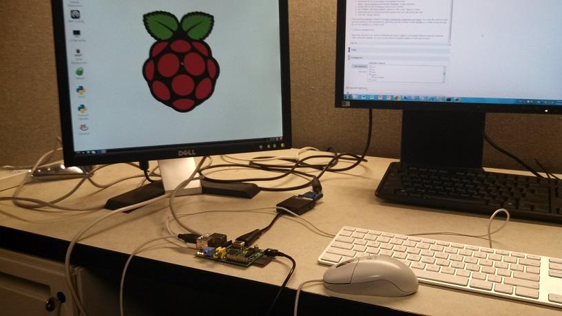 รูปการใช้ raspberry pi