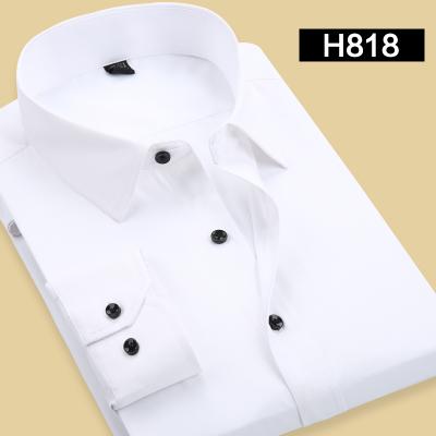 พรีออเดอร์ เสื้อเชิ้ตทำงานแขนยาว สีขาว อก 48.80 นิ้ว แฟชั่นเกาหลีสำหรับผู้ชายไซส์ใหญ่