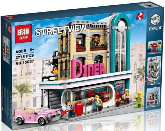เลโก้จีน LEPIN.15037 ชุด Downtown Diner