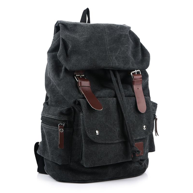 กระเป๋าเป้ Canvas Daypack สีดำ