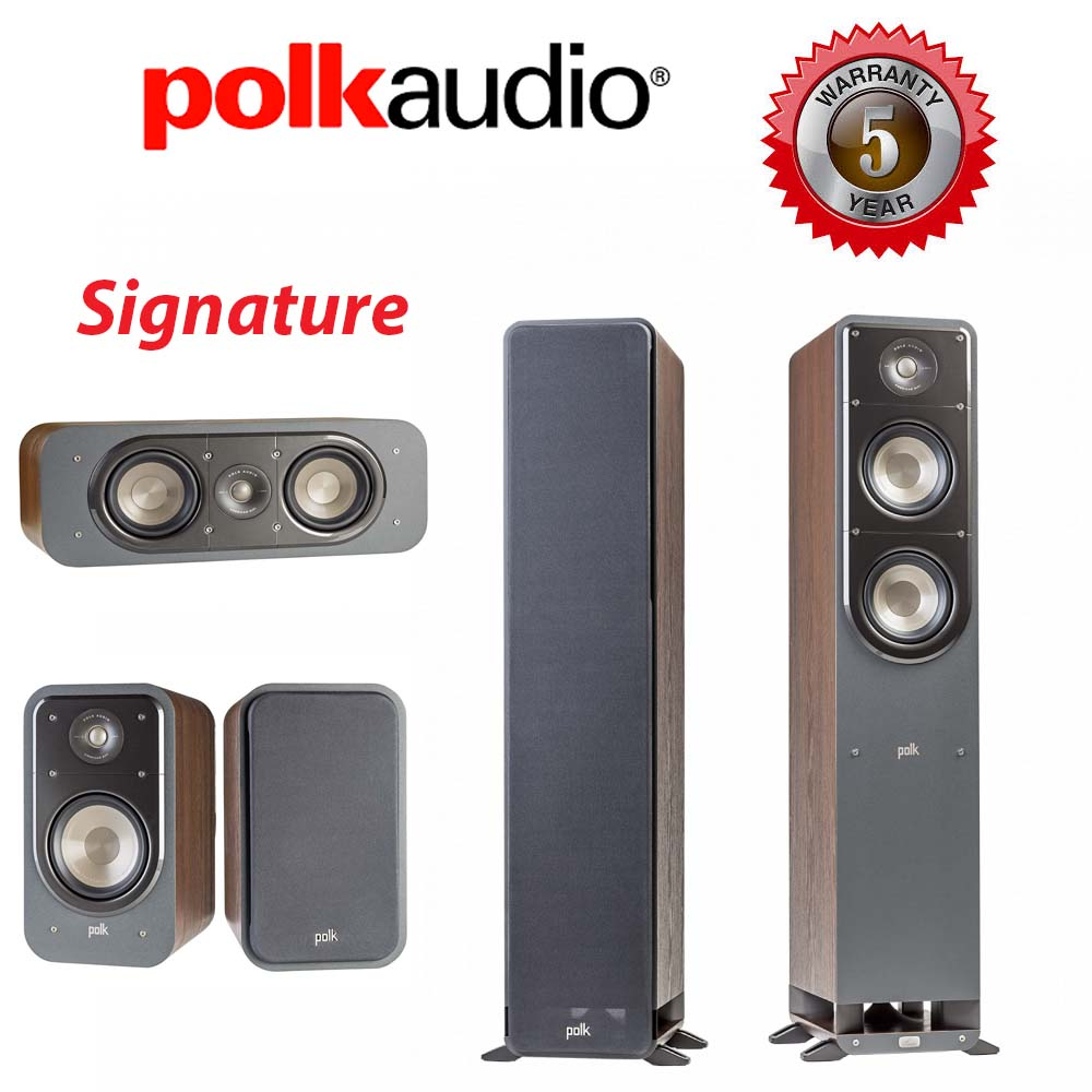 Polk Audio Signature S50 + S15 + S30 Walnut