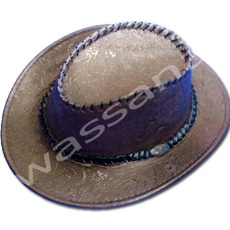 หมวกคาวบอย สีน้ำตาลเข้ม ลายมังกร