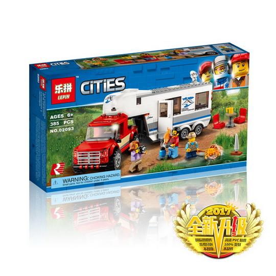 เลโก้จีน LEPIN.02093 ชุด City Pickup & Caravan