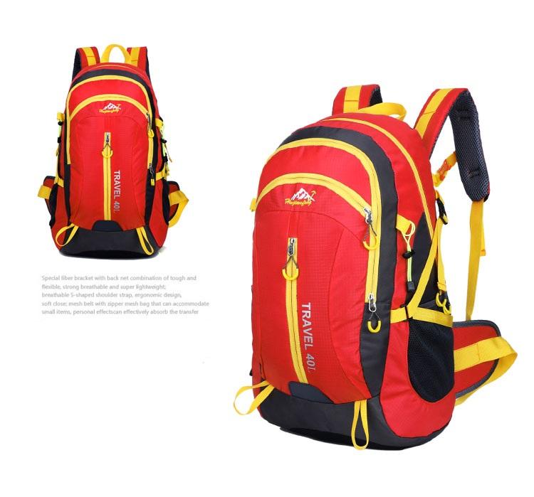 Outdoor mountaineering waterproof 40 ลิตร (สีแดง)