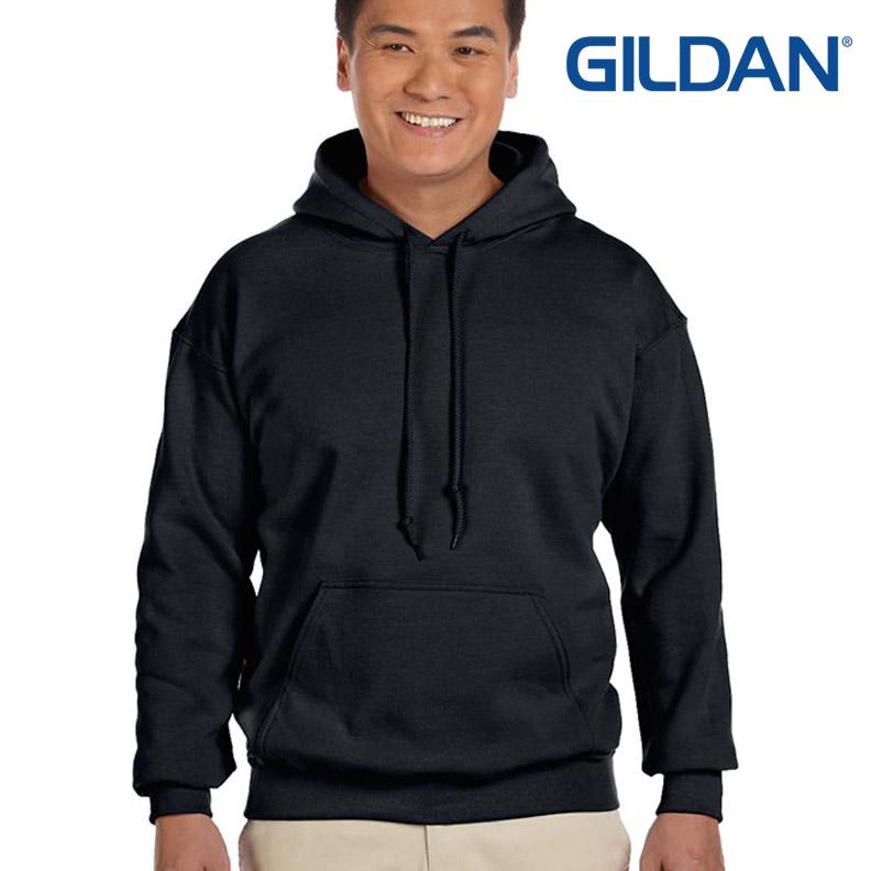 เสื้อฮู้ด Hoodie กันหนาว Gildan แบบสวมหัว สีดำ