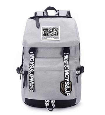 กระเป๋าเป้ New design backpack สีเทา (ส่งฟรี EMS พร้อมของแถม)