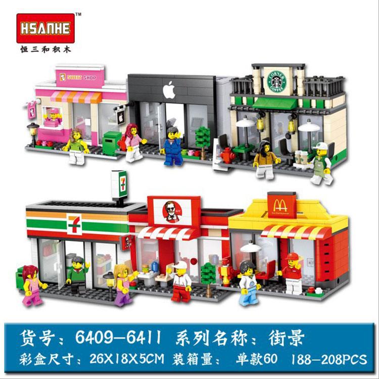 เลโก้จีน HSANHE 6409 ชุด Ministreet