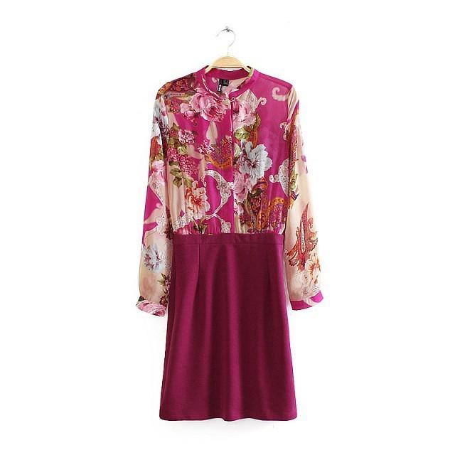 **พรีออเดอร์** ชุดเดรสผู้หญิงแฟชั่นยุโรปใหม่ แขนยาว สวยหรู / **Preorder** New European Floral Printed Fashion Elegant Dress