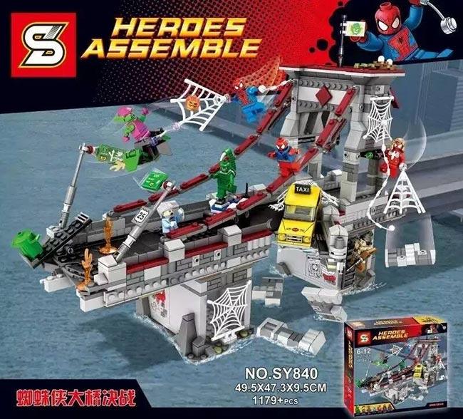 เลโก้จีน SY840 ชุด Spiderman Web Worriors