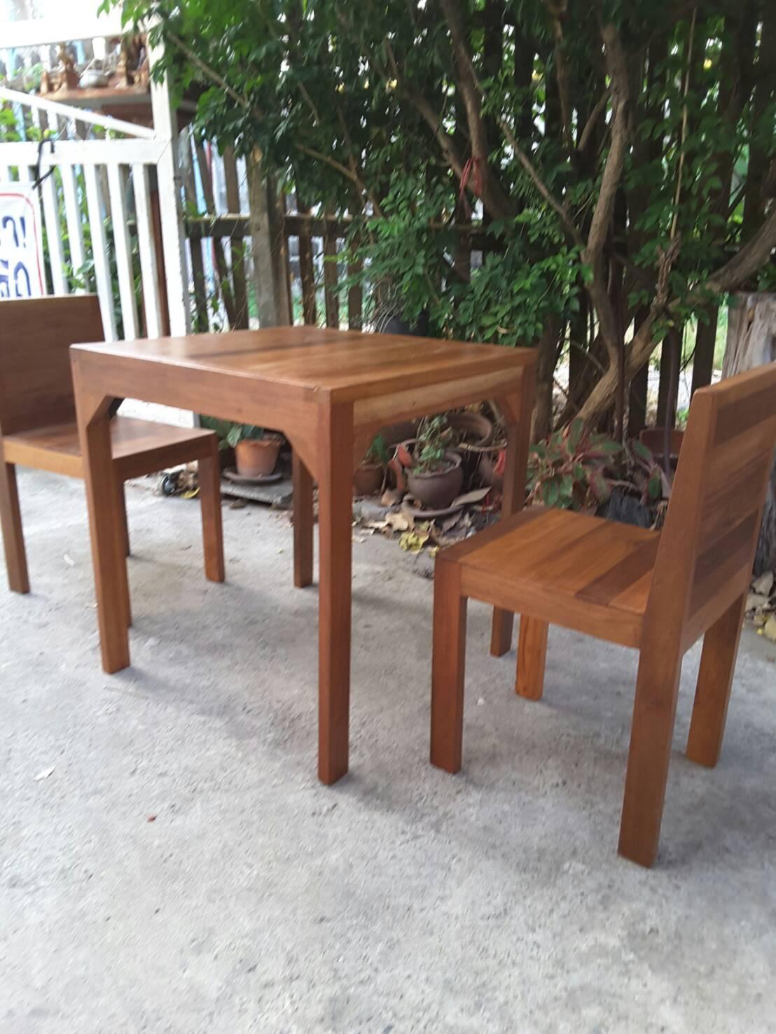 ชุดโต๊ะเก้าอี้แก่นจันทร์ 2 ที่นั่ง