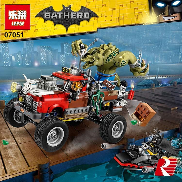 เลโก้จีน LEPIN.07051 ชุด Batman Movie Killer Croc Tail Gator