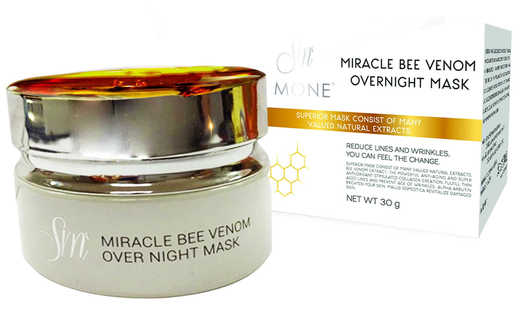 S MONE' Miracle Bee Venom Overnight Mask มาส์กพิษผึ้ง หน้าเด้งเต่งตึง โดยไม่ต้องฉีดโบท็อกส์