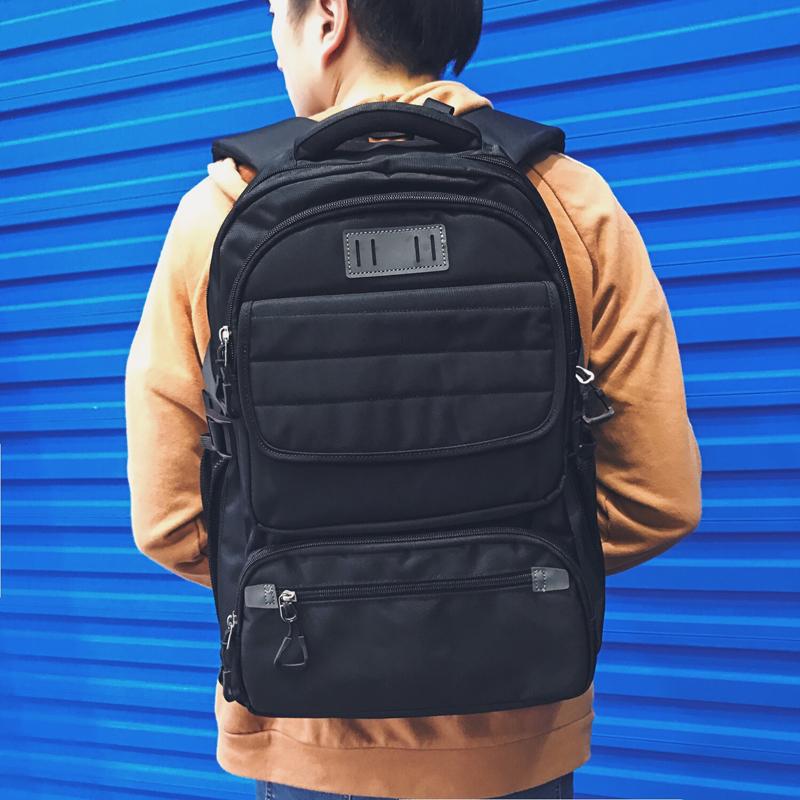 กระเป๋าเป้สะพายหลังสารพัดประโยชน์ สวย ทน เท่ห์ คุณภาพชั้นนำเป็นที่ยอมรับระดับสากล High-quality large-capacity business travel bag shoulder bag personalized leisure backpack men's high school computer bag