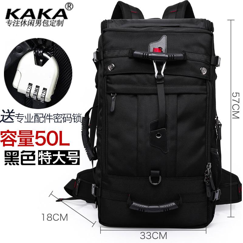 กระเป๋าเป้สะพายหลังสารพัดประโยชน์ สวย ทน เท่ห์ คุณภาพชั้นนำเป็นที่ยอมรับระดับสากล Kaka Men's Backpack Outdoor sports mountaineering bags Male travel backpack Men's bags Men's bags Large capacity