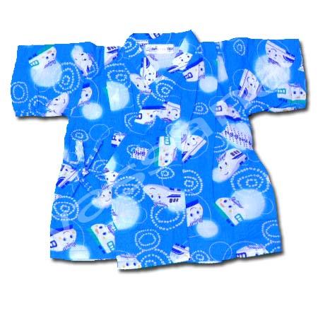 เสื้อจิมเบอิ สีฟ้า ลาย Shinkansen S100