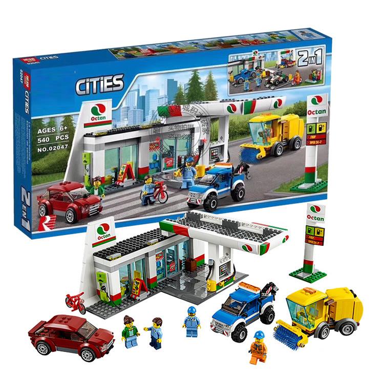 เลโก้จีน LEPIN.02047 ชุด City Town Sevice Station