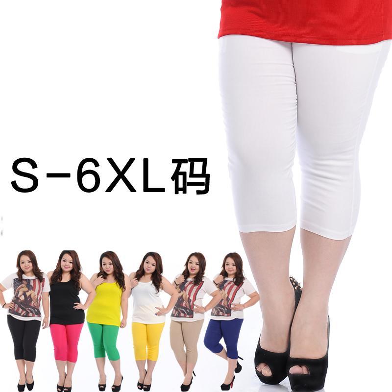 [พรีออเดอร์] กางเกงแฟชั่นเกาหลีไซส์ใหญ่ 125 กก.Brand 3QMiss ขา 3 ส่วน - [Preorder] Plus size for 125 kg. Women ฺKorean Hitz Brand 3QMiss Colored Casual Pants