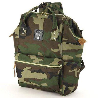 กระเป๋าเป้ Anello Lotte Camouflage (Standard) ผ้าโพลีเอสเตอร์กันน้ำ