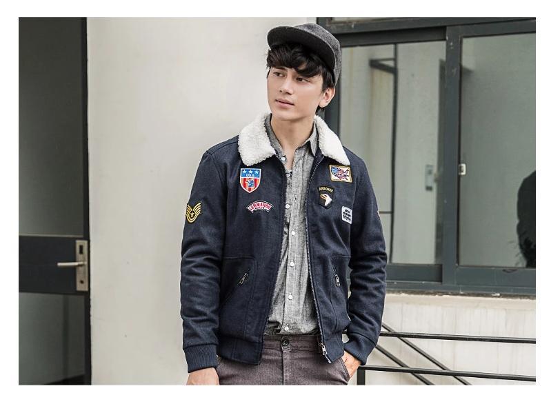 พรีออเดอร์ เสื้อกันหนาวแฟชั่นอเมริกา และยุโรปสไตล์ สำหรับผู้ชาย แขนยาว เก๋ เท่ห์ - Preorder Men American and European Hitz Style Slim Long-sleeved Jacket