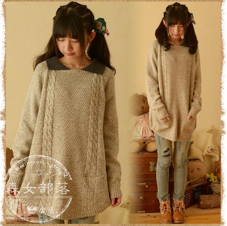 พรีออเดอร์ เสื้อกันหนาววัยรุ่นผู้หญิง สำหรับอายุ 18 -24 ปี แฟชั่นญี่ปุ่นใหม่ แขนยาว แบบเก๋ เท่ห์ - Preorder New Japanese Fashion Long-sleeved Sweater for Little Female age 18 24 years