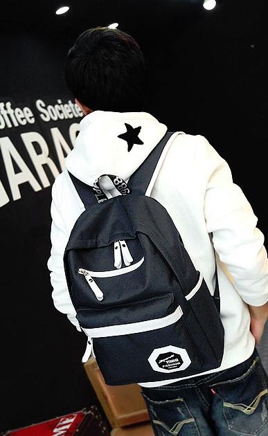 กระเป๋าเป้ Leisure korean backpack (สีดำ)