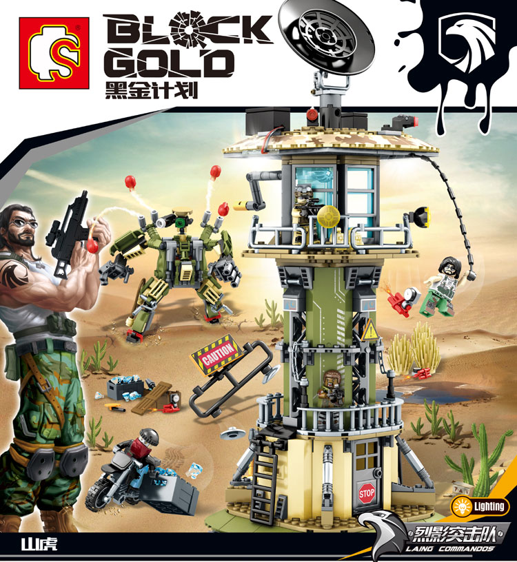 เลโก้จีน Sembo.11717 ชุด Block Gold