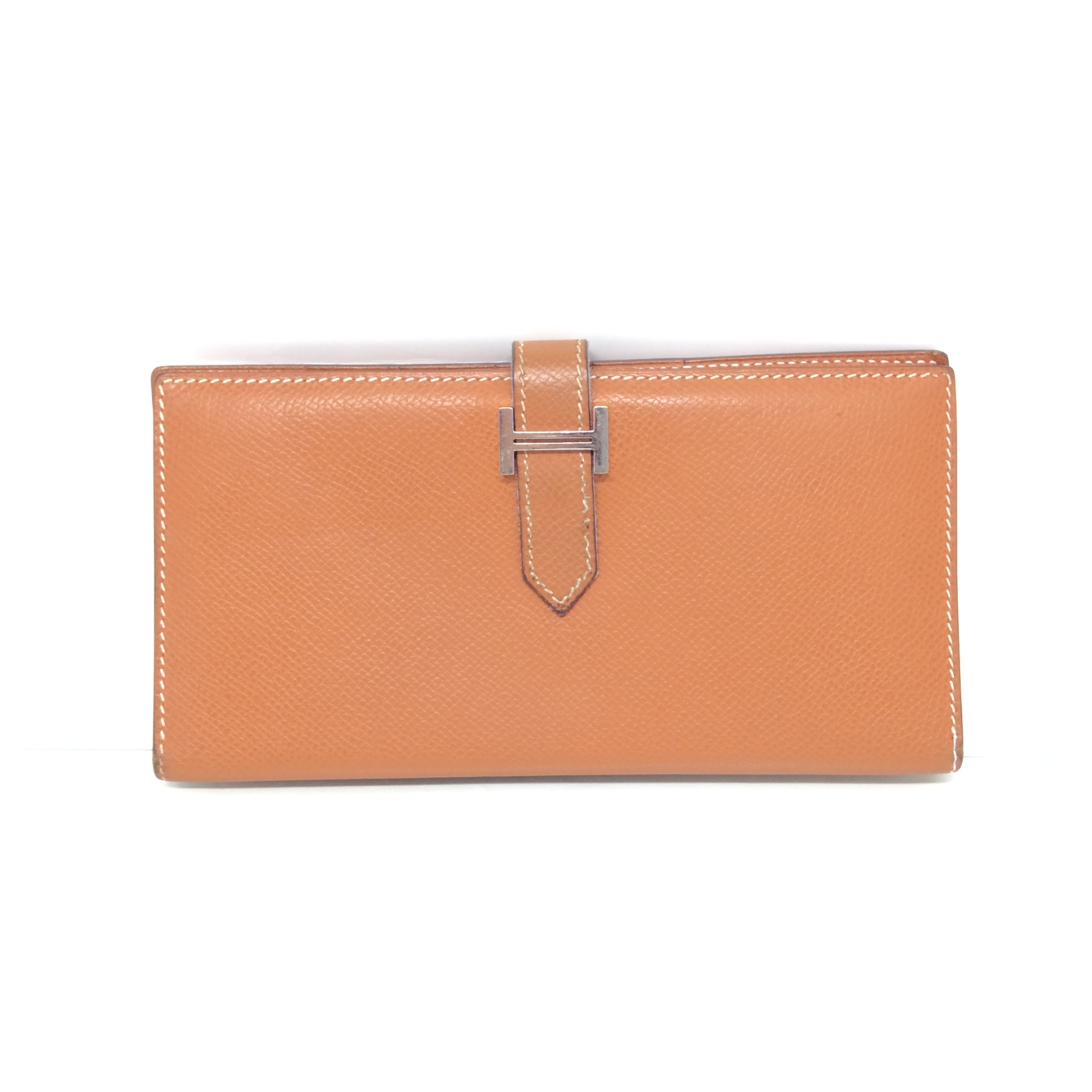 (SOLDOUT)HERMES epsom leather gold bearn wallet
