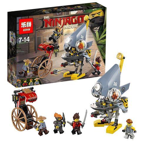 เลโก้จีน LEPIN.06068 ชุด Ninja Go Movie Piranha Attack