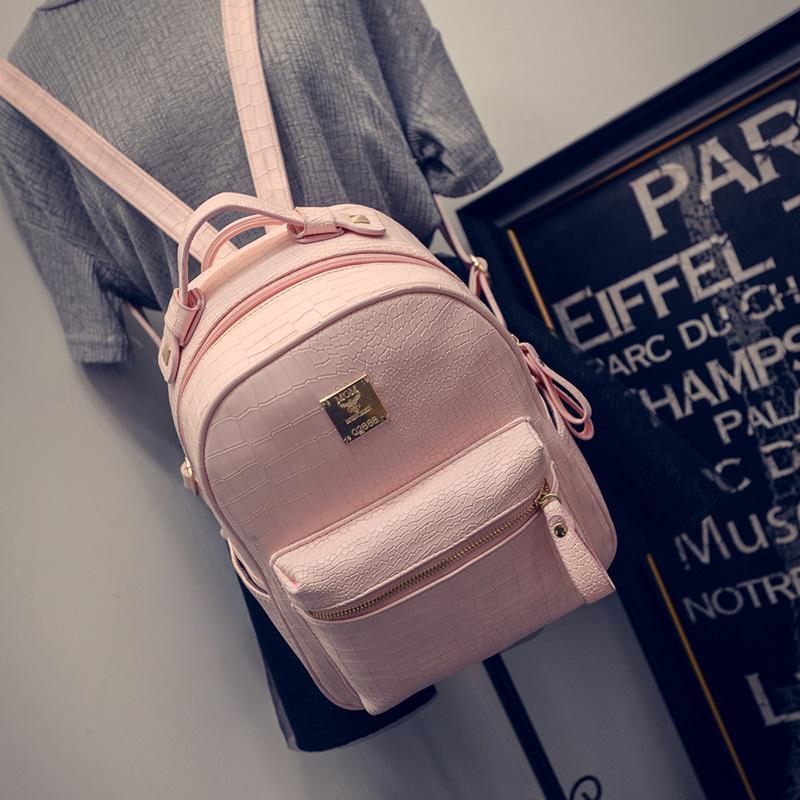กระเป๋าเป้ผู้หญิง Sweet pastel สีชมพู ขาว ดำ