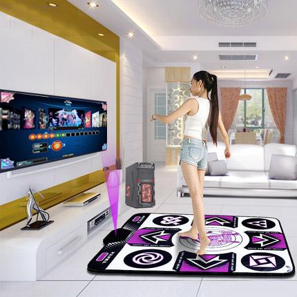 แผ่นเกมส์เต้นออกกำลังกาย แบบต่อคอมพิวเตอร์ พร้อมโปรแกรมเต้นและเพลง Pump it up Support สีเทา