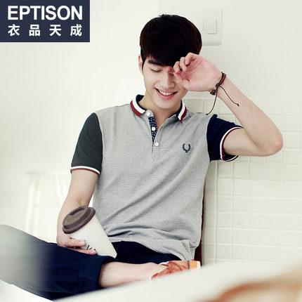 พรีออเดอร์ เสื้อโปโลแฟชั่นเกาหลี สำหรับผู้ชาย แขนสั้น เก๋ เท่ห์ - Preorder Men Korean Hitz Style Slim Short-sleeved Polo Shirt