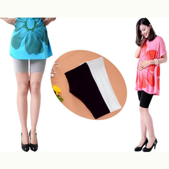 กางเกงเลกกิ้งคนท้องขาสั้น ใส่ลำลองหรือกันโป๊ (มี 3 สี ดำ, ขาว, เทา)