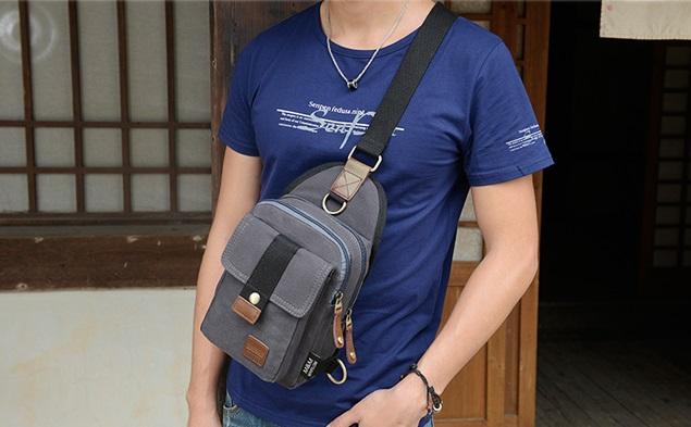 กระเป๋าคาดอก Meirlom Canvas