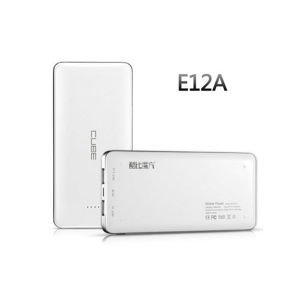 Power Bank 12,000 mAh : Cube E12A 1A+1.2A