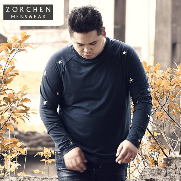 พรีออเดอร์ เสื้อยืดกันหนาว ไซส์ XL - 4XL แฟชั่นเกาหลีสำหรับผู้ชายไซส์ใหญ่ แขนยาว เก๋ เท่ห์ - Preorder Large Size Men Size XL - 4XL Korean Hitz Long-sleeved Autumn T-Shirt